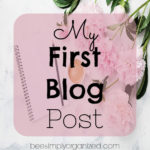 My First Blog Post