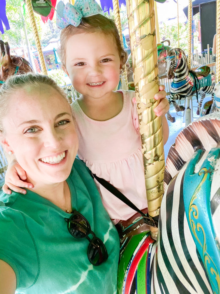 Caroline and me on the merry go round-friday favorites